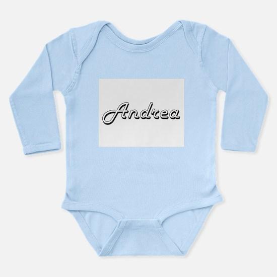 Andrea Classic Retro Name Design Body Suit