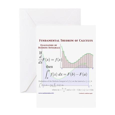 Fundamental Theorem of Calculus Greeting Card