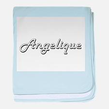 Angelique Classic Retro Name Design baby blanket