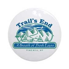 Trail's End Ornament (Round)