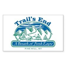 Trail's End Rectangle Decal