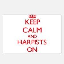 Keep Calm and Harpists ON Postcards (Package of 8)