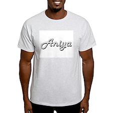 Aniya Classic Retro Name Design T-Shirt