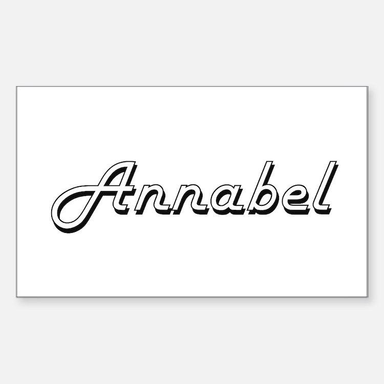 Annabel Classic Retro Name Design Decal
