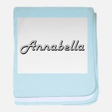Annabella Classic Retro Name Design baby blanket