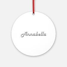 Annabella Classic Retro Name Desi Ornament (Round)