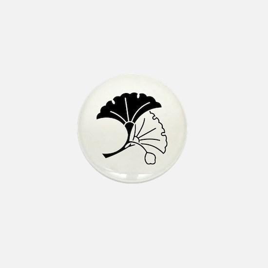 Yin & yang ginkgo leaves Mini Button