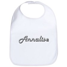 Annalise Classic Retro Name Design Bib