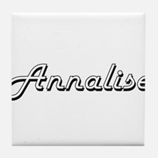 Annalise Classic Retro Name Design Tile Coaster