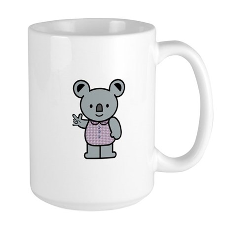 Koala with an ASL message Large Mug