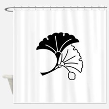 Yin & yang ginkgo leaves Shower Curtain