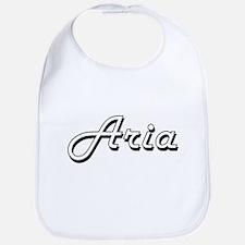 Aria Classic Retro Name Design Bib