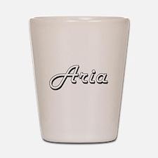 Aria Classic Retro Name Design Shot Glass