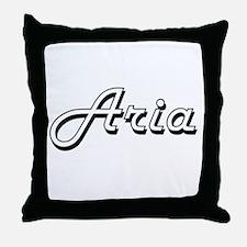 Aria Classic Retro Name Design Throw Pillow
