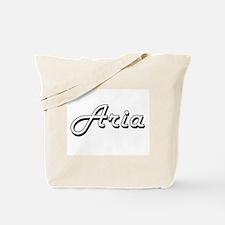 Aria Classic Retro Name Design Tote Bag