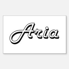 Aria Classic Retro Name Design Decal