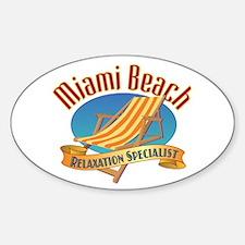 Miami Beach - Sticker (Oval)