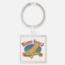 Miami Beach - Square Keychain