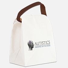 Autistics Amazing Head Canvas Lunch Bag