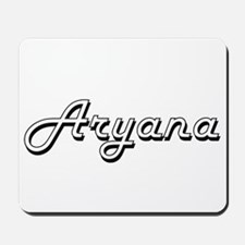 Aryana Classic Retro Name Design Mousepad