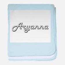 Aryanna Classic Retro Name Design baby blanket
