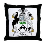 Tolley Family Crest Throw Pillow