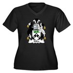 Tolley Family Crest Women's Plus Size V-Neck Dark
