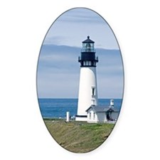 Yaquina Lighthouse Oval Bumper Stickers