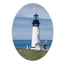 Yaquina Lighthouse Oval Ornament