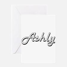 Ashly Classic Retro Name Design Greeting Cards