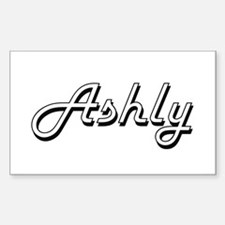Ashly Classic Retro Name Design Decal
