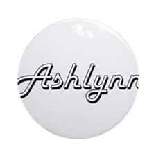 Ashlynn Classic Retro Name Design Ornament (Round)