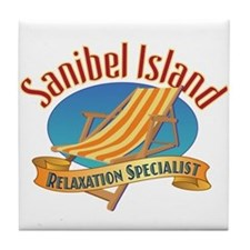 Sanibel Island Relax - Tile Coaster