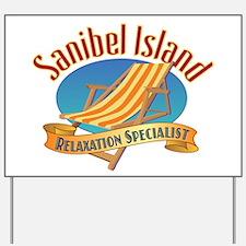 Sanibel Island Relax - Yard Sign
