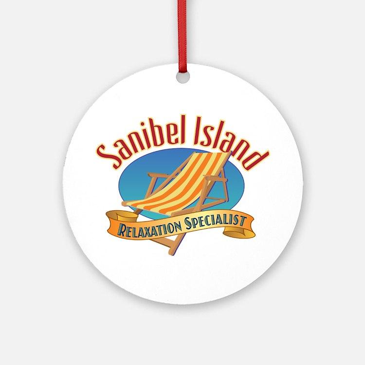 Sanibel Island Relax - Ornament (Round)