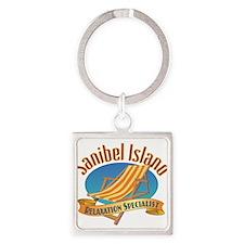 Sanibel Island Relax - Square Keychain