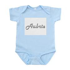 Aubrie Classic Retro Name Design Body Suit