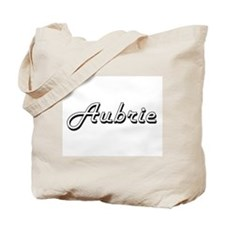Aubrie Classic Retro Name Design Tote Bag
