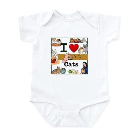 I Love Cats in ASL Infant Bodysuit