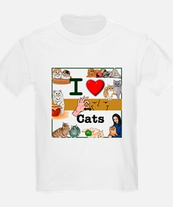 I Love Cats in ASL T-Shirt