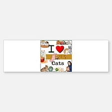 I Love Cats in ASL Bumper Bumper Bumper Sticker