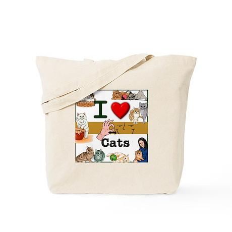 I Love Cats in ASL Tote Bag