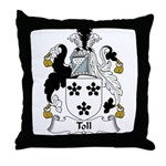 Toll Family Crest Throw Pillow