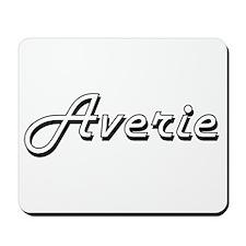 Averie Classic Retro Name Design Mousepad