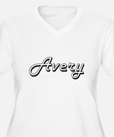 Avery Classic Retro Name Design Plus Size T-Shirt