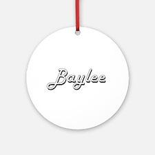 Baylee Classic Retro Name Design Ornament (Round)
