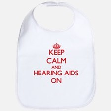 Keep Calm and Hearing Aids ON Bib