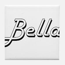 Bella Classic Retro Name Design Tile Coaster