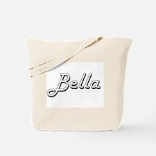 Bella Classic Retro Name Design Tote Bag