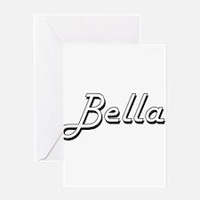 Bella Classic Retro Name Design Greeting Cards